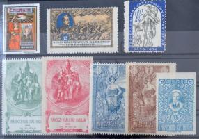 8 klf régi magyar levélzáró