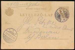 1896 2kr Millenniumi díjjegyes futott levelezőlap: Balaton vidéke