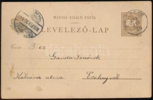 1896 2kr Millenniumi díjjegyes futott levelezőlap: Budapest Műcsarnok