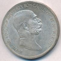 Ausztria 1908. 5K Ag Ferenc József - Jubileum T:2 ph. Austria 1908. 5 Corona Ag Franz Joseph - Jubilee C:XF edge error Krause KM#2809