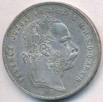 1879KB 1Ft Ag Ferenc József / Középcímer T:1-,2 apró ph. Adamo M15