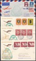 1956 6 db Lufthansa levél: 5 db Buenos Aires-be, 1 db onnan Hamburgba