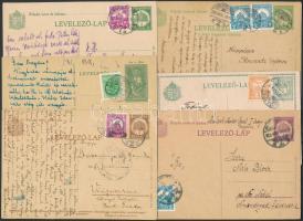 19 db díjkiegészített díjjegyes levelezőlap