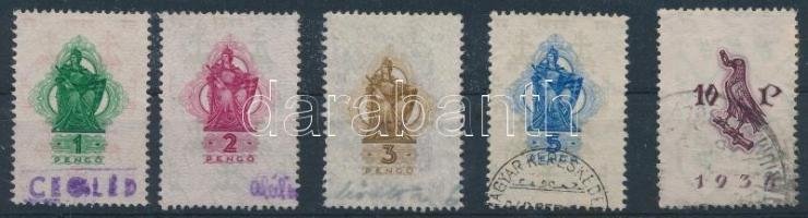 1934 5 db Okmánybélyeg