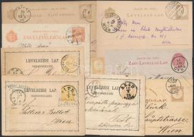 31 db különféle díjjegyes levelezőlap, levél több kétnyelvű (17.300)