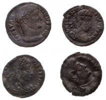 4db-os vegyes római rézpénz tétel, közte Thesszaloniki / I. Constantinus 326-328. AE Follis (2,87g) T:2,2-,3 4pcs of various Roman copper coins, including Thessalonica / Constantine I 326-328. AE Follis CONSTAN-TINVS AVG / PROVIDEN-TIAE AVGG - . - SMTSA (2,87g) C:XF,VF,F
