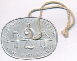 1949. 2Ft A Lánchíd ujjáépítéséért 1849-1949 Al bárca (40x53mm) T:2