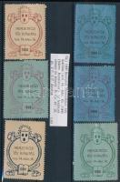1906 Nemzetközi Téli kiállítás 6 db klf levélzáró