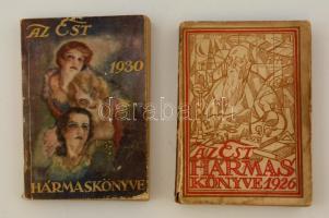 1926, 1930 Az Est hármaskönyve (A nő könyve, A tudomány és technika haladása), 2 db