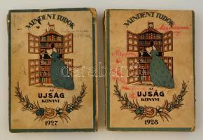 1927-1928 Az Ujság könyve, szerk. Pünkösti Andor, 2 db