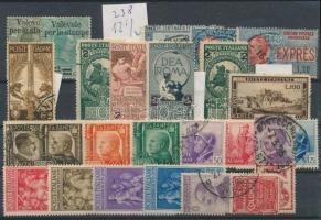 Kis olasz tétel: 23 klf bélyeg (Mi EUR ~125,-)