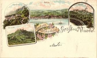 1898 Vinodol, Selce, Grizane, Drivenik, Bribie. Ottmar Zieher floral litho (vágott / cut)
