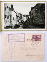 1925 Képeslap SOPRON KIR. VÁROSI JUBILEUMI IPARI KIÁLLÍTÁSRA emlékbélyegzéssel + Sopron legszebb képei 3 db klf képeslap füzetben