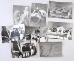 cca 1960 8 db amatőr pornó és erotikus fotó 6x9 cm