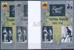 2008/15 Csortos Gyula 4 db-os emlékív garnitúra (28.000)