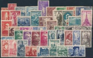 Kis francia tétel: 44 klf bélyeg (Mi EUR ~227,-)