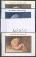 2007/01 Karácsony 4 db-os emlékív garnitúra (28.000)