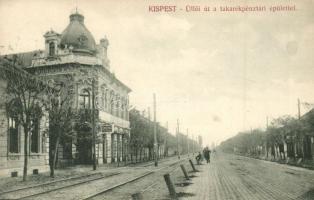 Budapest XIX. Kispest, Üllői út, takarékpénztár, kávéház és étterem (EK)