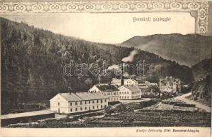 Hermánd, Hermanetz, Harmanec; Papírgyár. kiadja Ivánszky Elek / paper factory, Art Nouveau