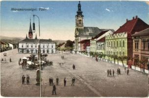 Máramarossziget, Sighetu Marmatiei; Fő tér / main square 1940 Máramarossziget visszatért So. Stpl