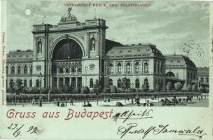 1899 Budapes VII. Keleti pályaudvar. Ottmar Zieher litho (vágott / cut)