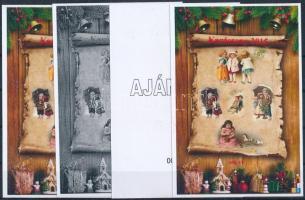 2015/13 Karácsony 4 db-os emlékív garnitúra (28.000)