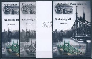 2015/12 Szabadság híd 4 db-os emlékív garnitúra (28.000)