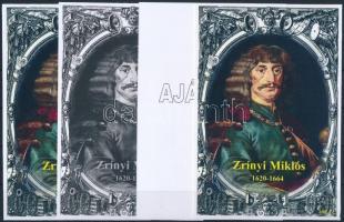 2015/10 Zrínyi Miklós 4 db-os emlékív garnitúra (28.000)