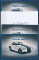 2015/09 Oldtimer autók (II.) 4 db-os emlékív garnitúra (28.000)