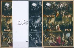 2015/08 Benczur Gyula 4 db-os emlékív garnitúra (28.000)