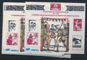 1992/10 30 db Cserkész emlékív (30.000)