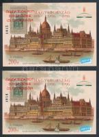 1998/K6a 30 db Óbuda-Buda-Pest emlékív (60.000)