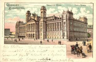 Budapest V. Igazságügyi palota. Rosenblatt litho
