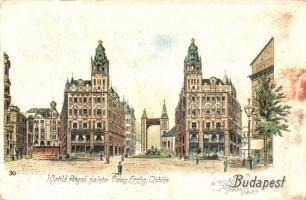 Budapest V. Klotild főhercegnő palotái, litho (fa)