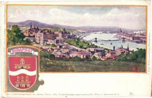 Budapest, címeres művészlap. Philipp & Kramer (EK)