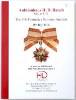 Auktionhaus H. D. Rauch GMBH - The 100 Countries Summer Auction 28th July 2016. Árlistával az aukción elkelt tételekről.