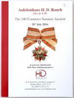 Auktionhaus H. D. Rauch GMBH - The 100 Countries Summer Auction 28th July 2016. Árlistával az aukción elkelt tételekről.