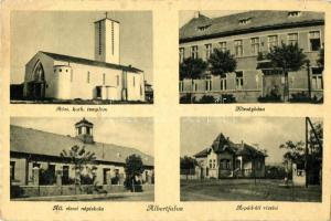 Budapest XI. Albertfalva, Állami elemi népiskola, Községháza, Árpád út