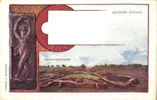 Budapest III. Aquincumi ásatások, Amphitheatrum, Hornyánszky V. Art Nouveau művészlapja