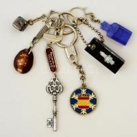 6 db különböző kulcstartó (Medimpex, FEDI, Toledo, stb.)