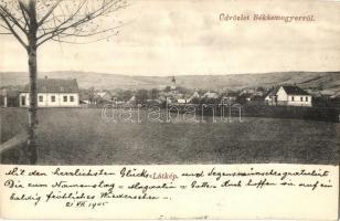 Budapest III. Békásmegyer, látkép. Löbmann F. kiadása