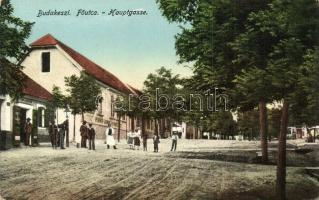 Budakeszi, Főutca, Perner János vendéglője, üzlet, kiadja Neumann Mártán