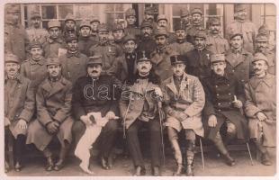 1916 Katonatisztek csoportképe fotólap / military officers