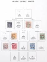 Izland gyűjtemény 1873-1995 Schaubek rugós albumban (Mi EUR ~700,-)
