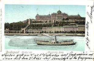 Budapest I. Királyi vár, gőzhajó