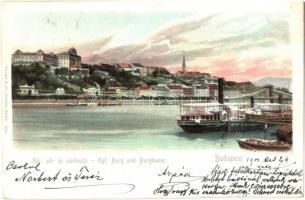 Budapest I. Királyi vár és várbazár, gőzhajó