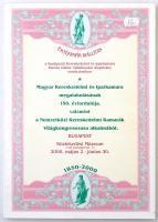 Értékpapír Kiállítás a Budapesti Kereskedelmi és Iparkamara Baross Gábor Vállalkozási Alapítvány rendezésében a Magyar Kereskedelmi és Iparkamara megalakulásának 150. évfordulója, valamint a Nemzetközi Kereskedelmi Kamarák Világkongresszusa alkalmából. Budapest 2000. május 2 - június 30. Használt, jó állapotú példány.