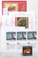 Vegyes blokk, kisív és összefüggés gyűjtemény a világból 8 lapos kis berakóban