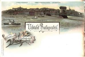 Budapest, Louis Glaser floral litho (EK)