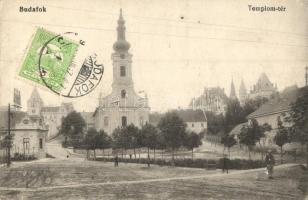 Budapest XXII. Budafok, templom tér (fa)